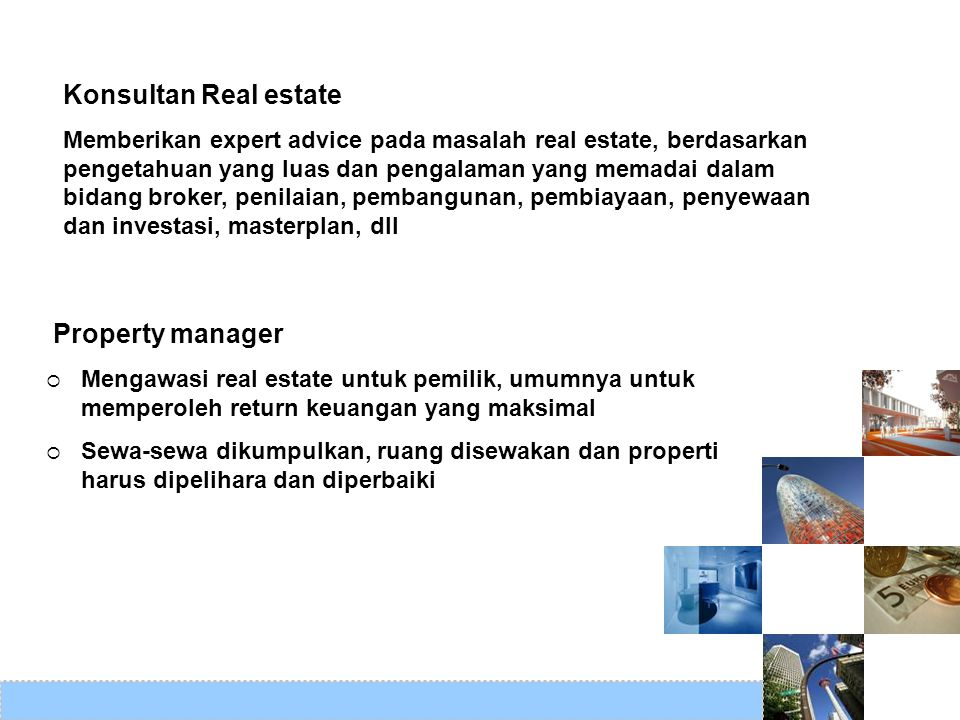 Konsultan Real estate Property manager