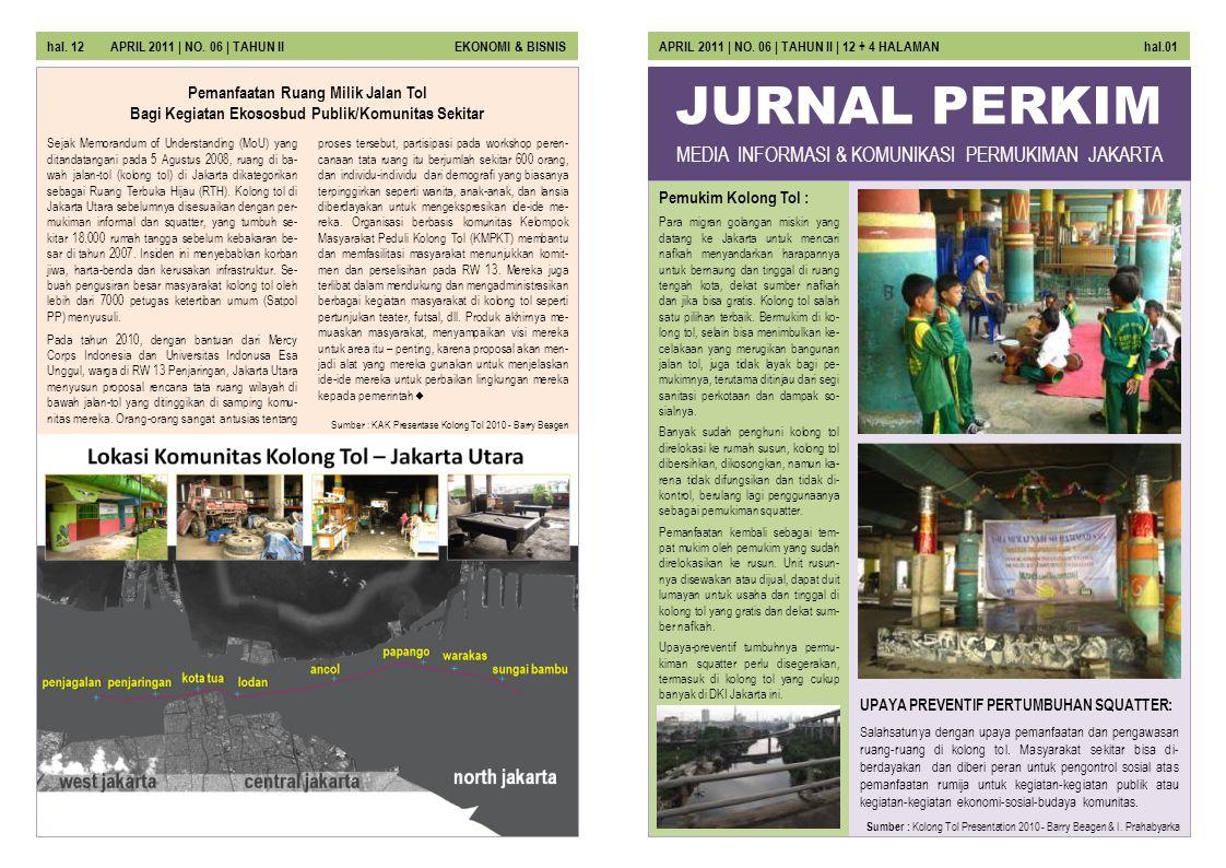 JURNAL PERKIM MEDIA INFORMASI & KOMUNIKASI PERMUKIMAN JAKARTA