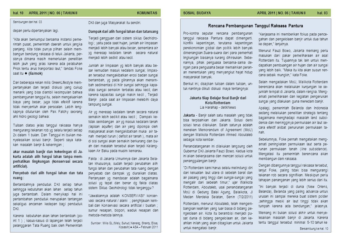 Rencana Pembangunan Tanggul Raksasa Pantura