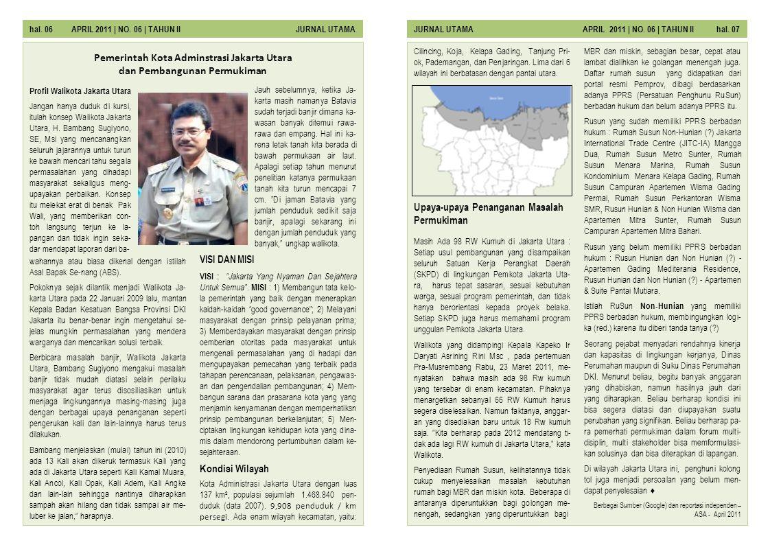Pemerintah Kota Adminstrasi Jakarta Utara dan Pembangunan Permukiman