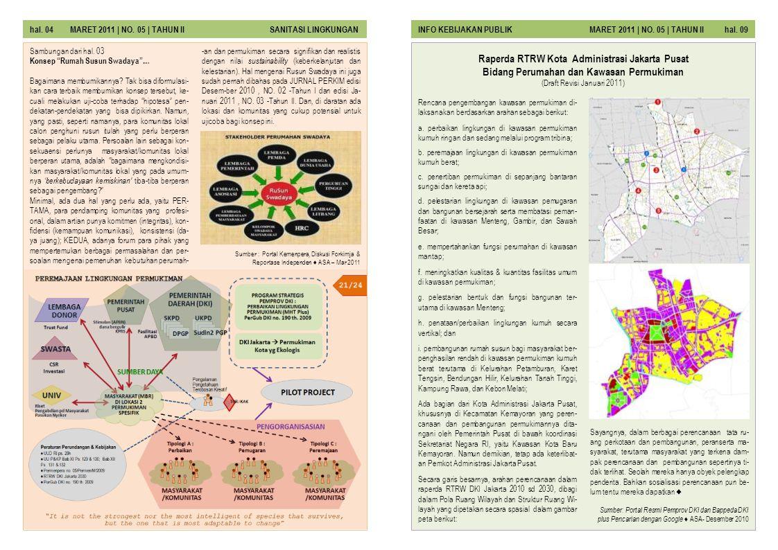 hal. 04 MARET 2011 | NO. 05 | TAHUN II SANITASI LINGKUNGAN