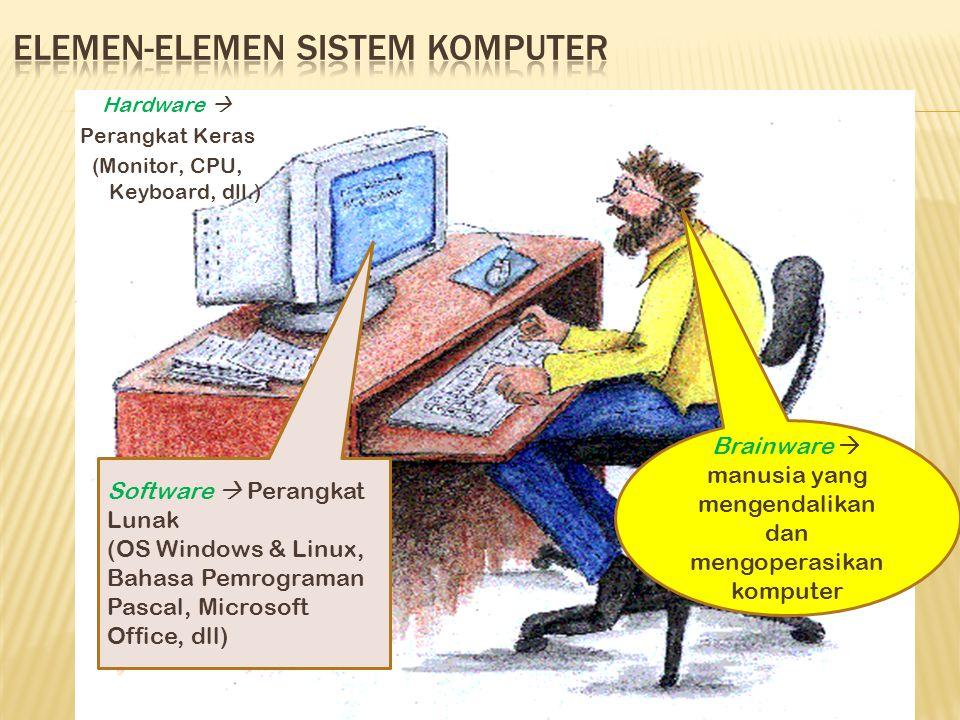 Elemen-elemen sistem komputer