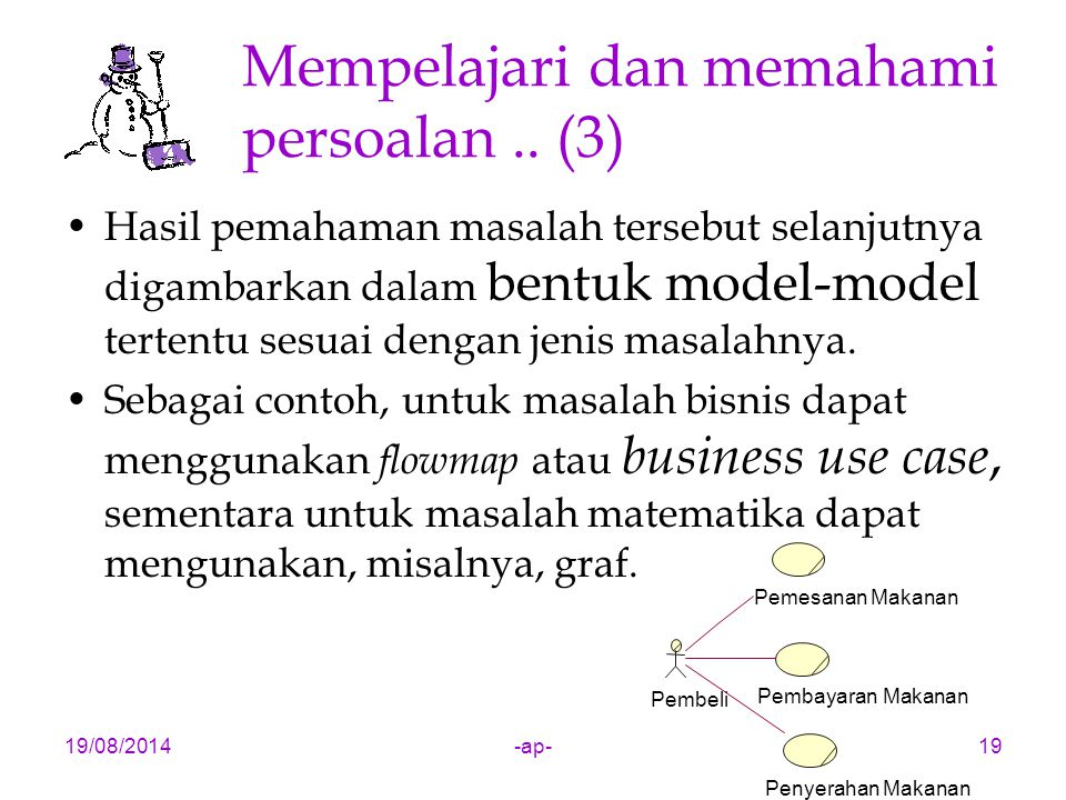 Mempelajari dan memahami persoalan .. (3)