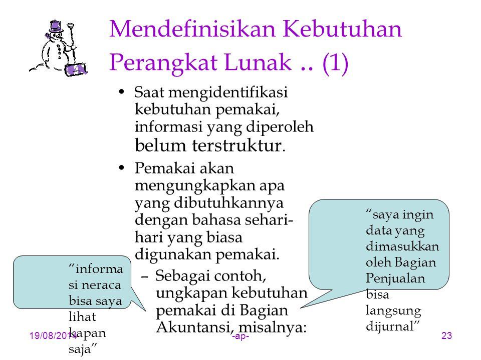 Mendefinisikan Kebutuhan Perangkat Lunak .. (1)