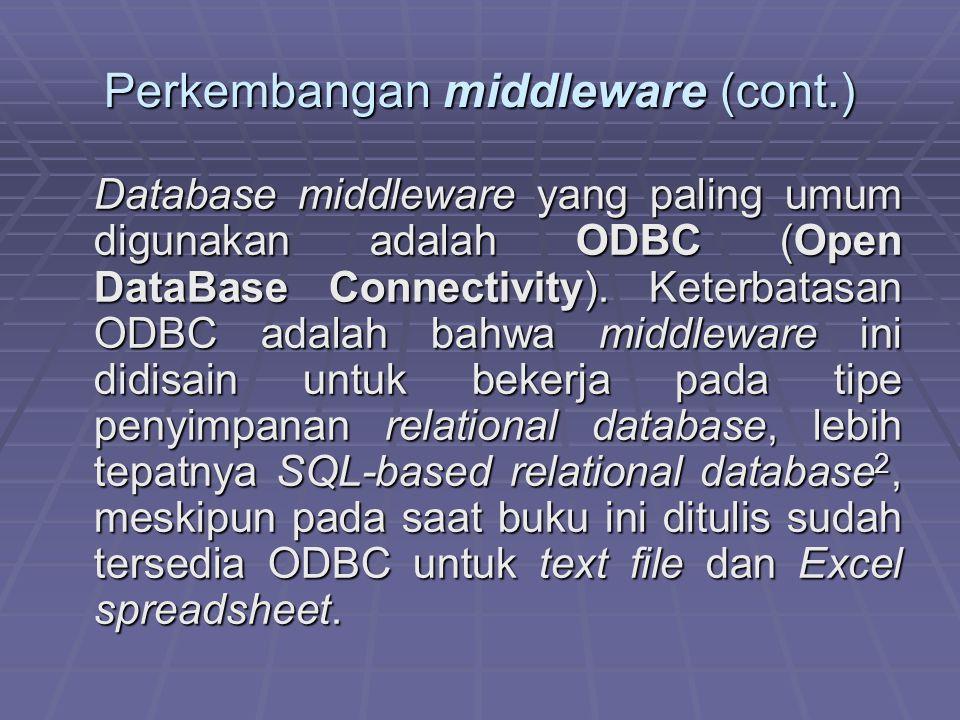 Perkembangan middleware (cont.)
