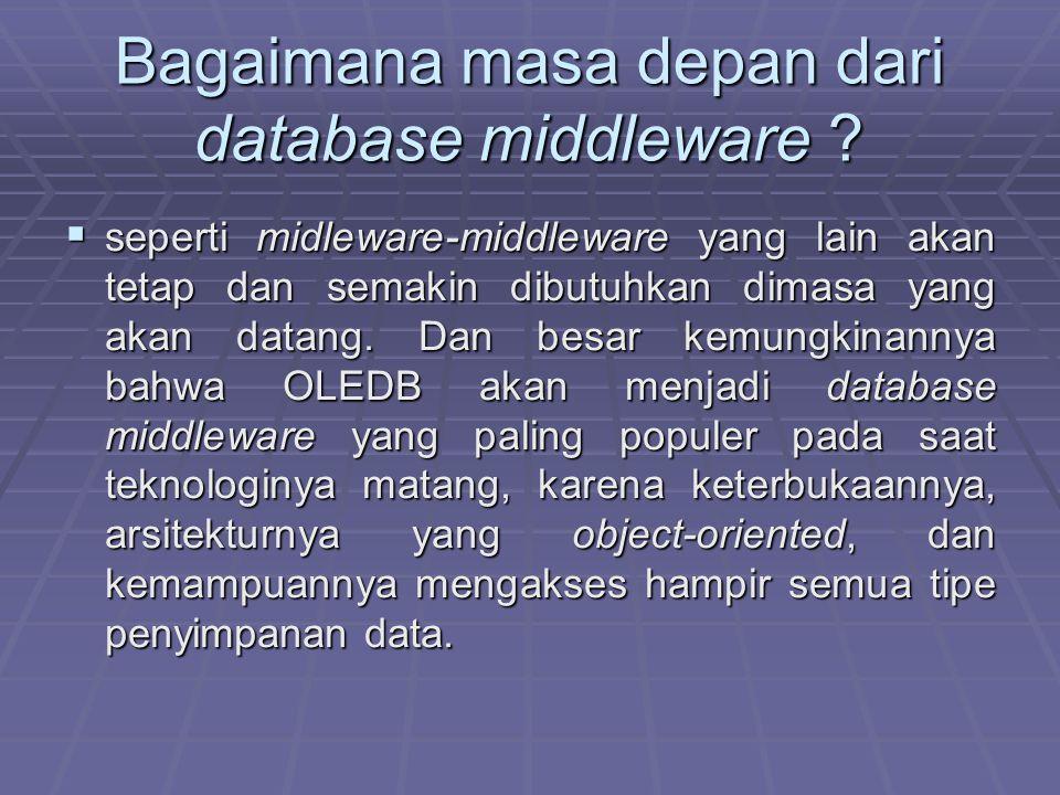 Bagaimana masa depan dari database middleware