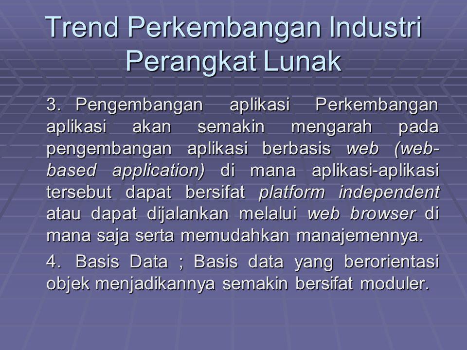 Trend Perkembangan Industri Perangkat Lunak