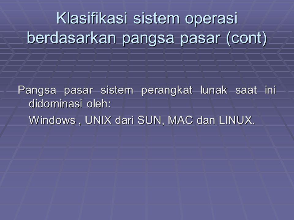 Klasifikasi sistem operasi berdasarkan pangsa pasar (cont)