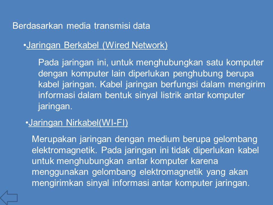 Berdasarkan media transmisi data