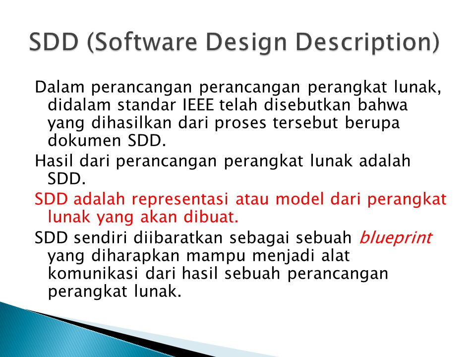 SDD (Software Design Description)