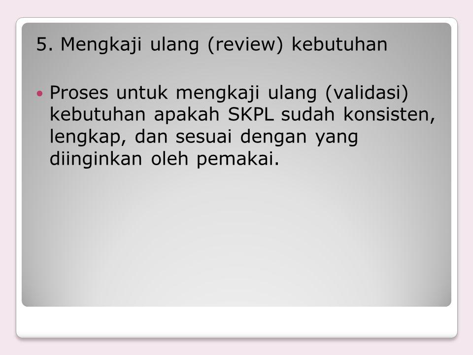 5. Mengkaji ulang (review) kebutuhan
