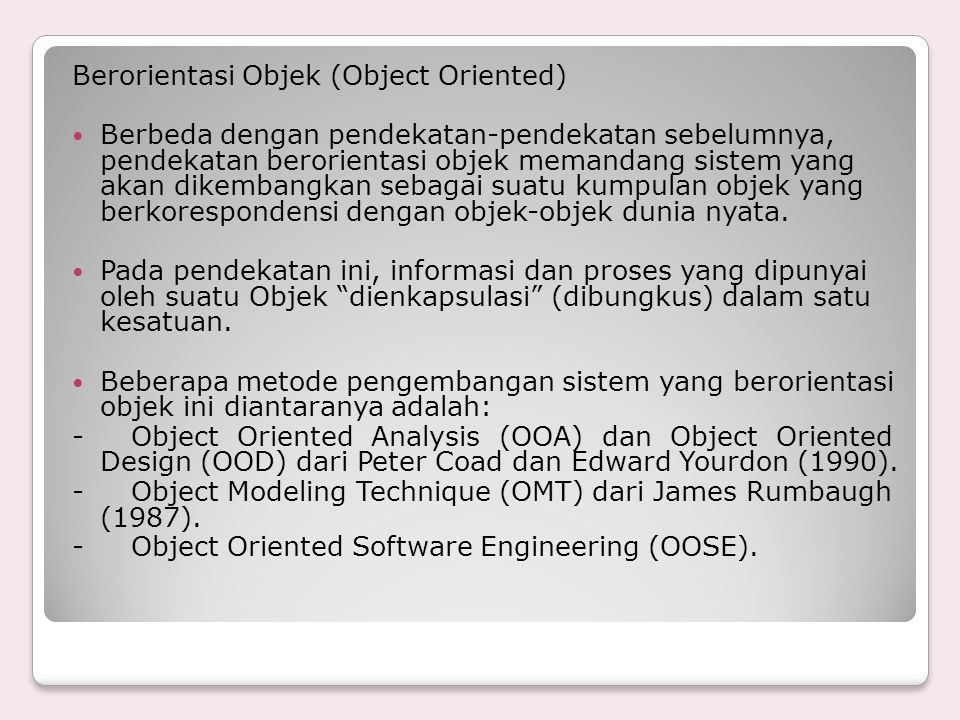 Berorientasi Objek (Object Oriented)