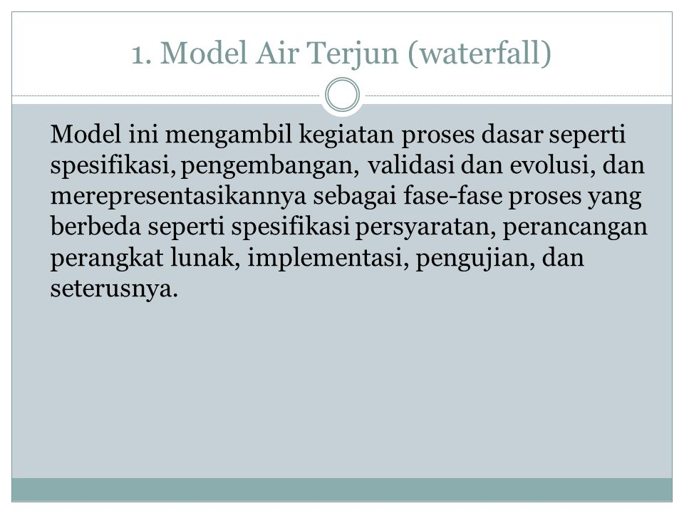 1. Model Air Terjun (waterfall)