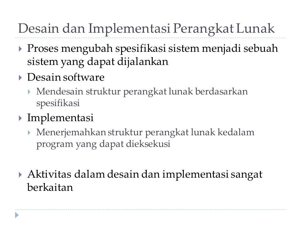 Desain dan Implementasi Perangkat Lunak