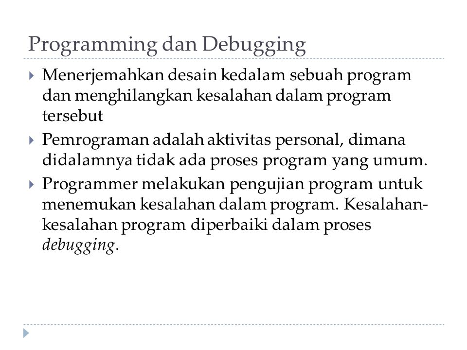 Programming dan Debugging