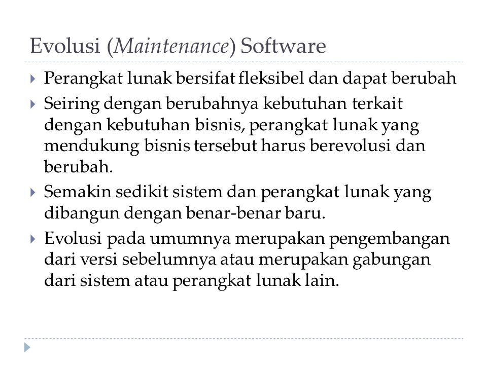 Evolusi (Maintenance) Software