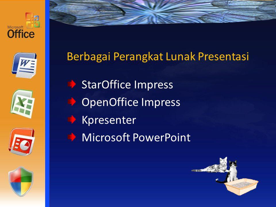 Berbagai Perangkat Lunak Presentasi