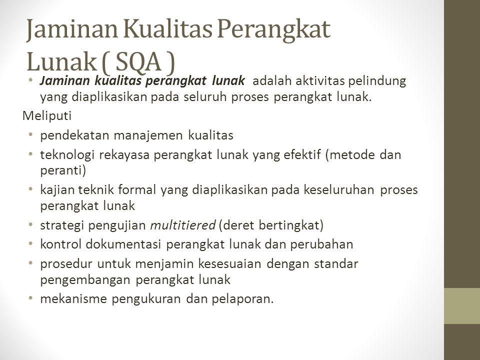 Jaminan Kualitas Perangkat Lunak ( SQA )
