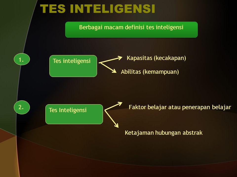 Berbagai macam definisi tes inteligensi