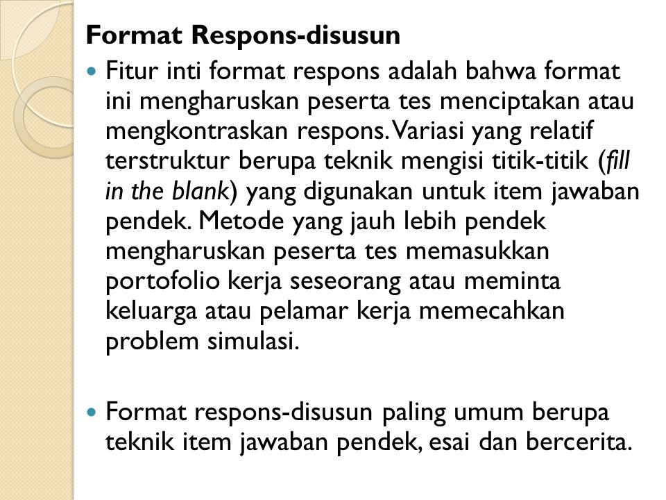 Format Respons-disusun