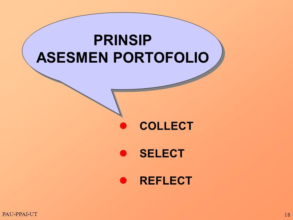 PRINSIP ASESMEN PORTOFOLIO