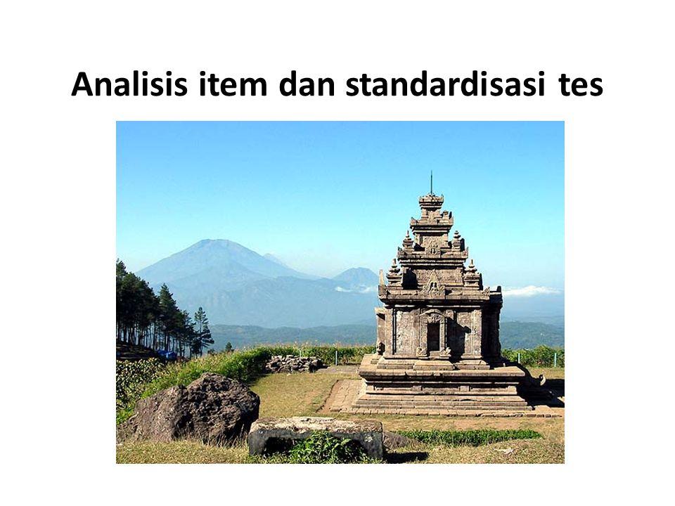 Analisis item dan standardisasi tes