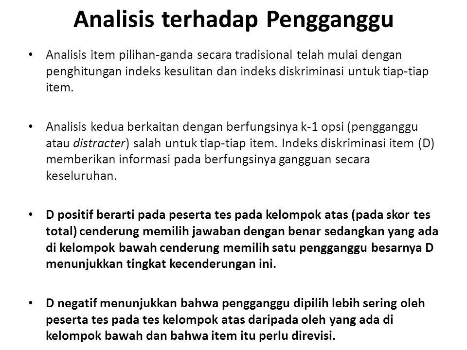 Analisis terhadap Pengganggu