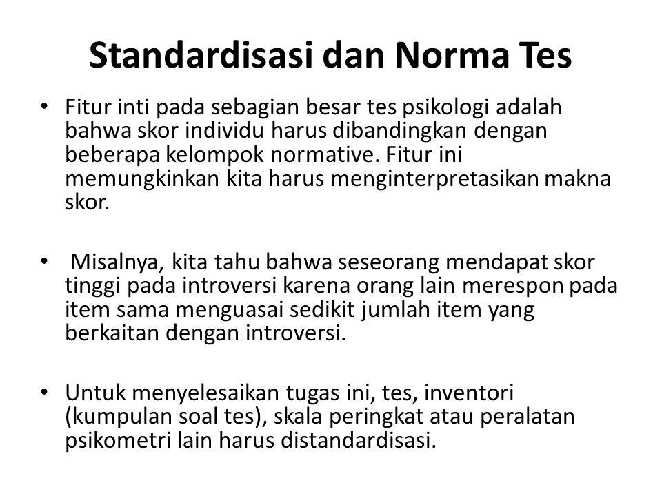 Standardisasi dan Norma Tes