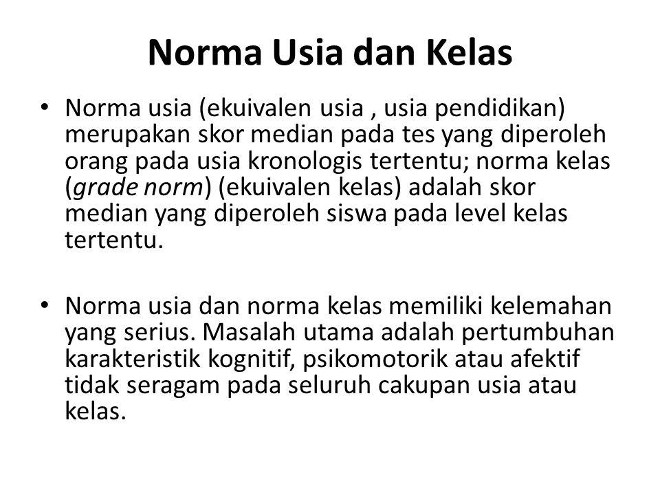 Norma Usia dan Kelas