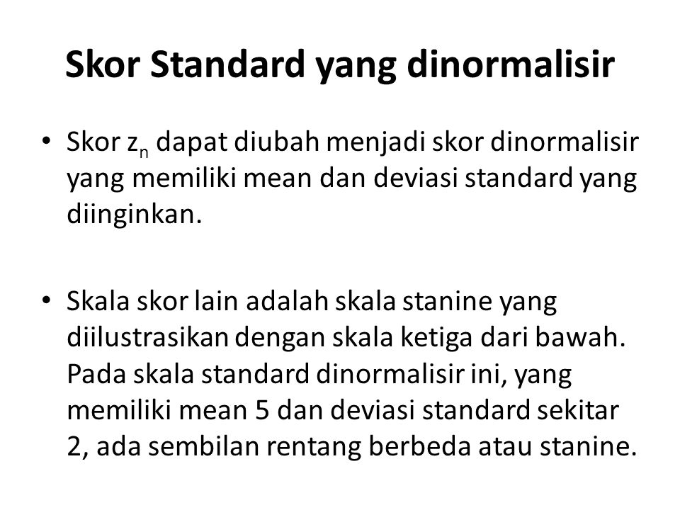 Skor Standard yang dinormalisir