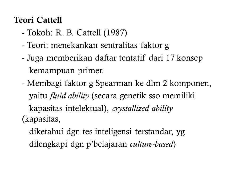 Teori Cattell - Tokoh: R. B
