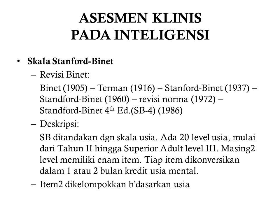 ASESMEN KLINIS PADA INTELIGENSI