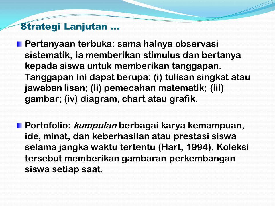 Strategi Lanjutan ...