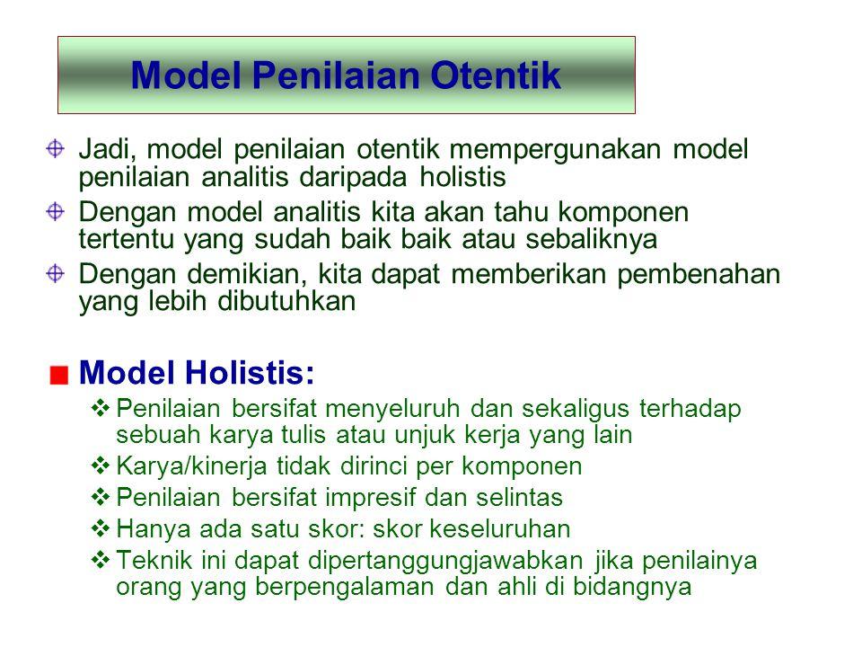 Model Penilaian Otentik