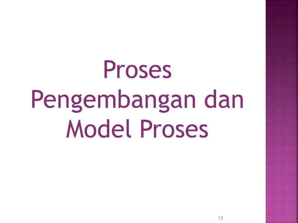 Proses Pengembangan dan Model Proses