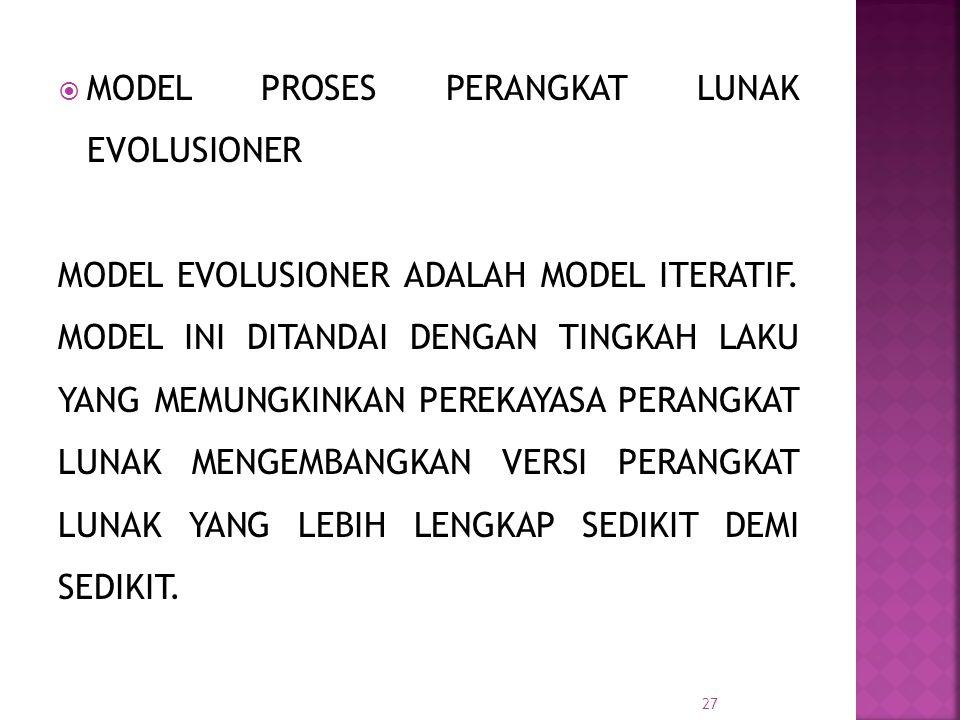 MODEL PROSES PERANGKAT LUNAK EVOLUSIONER