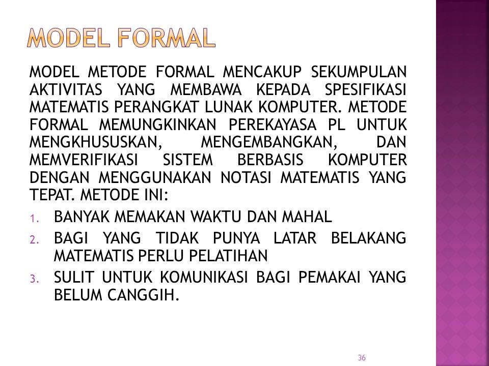 MODEL FORMAL