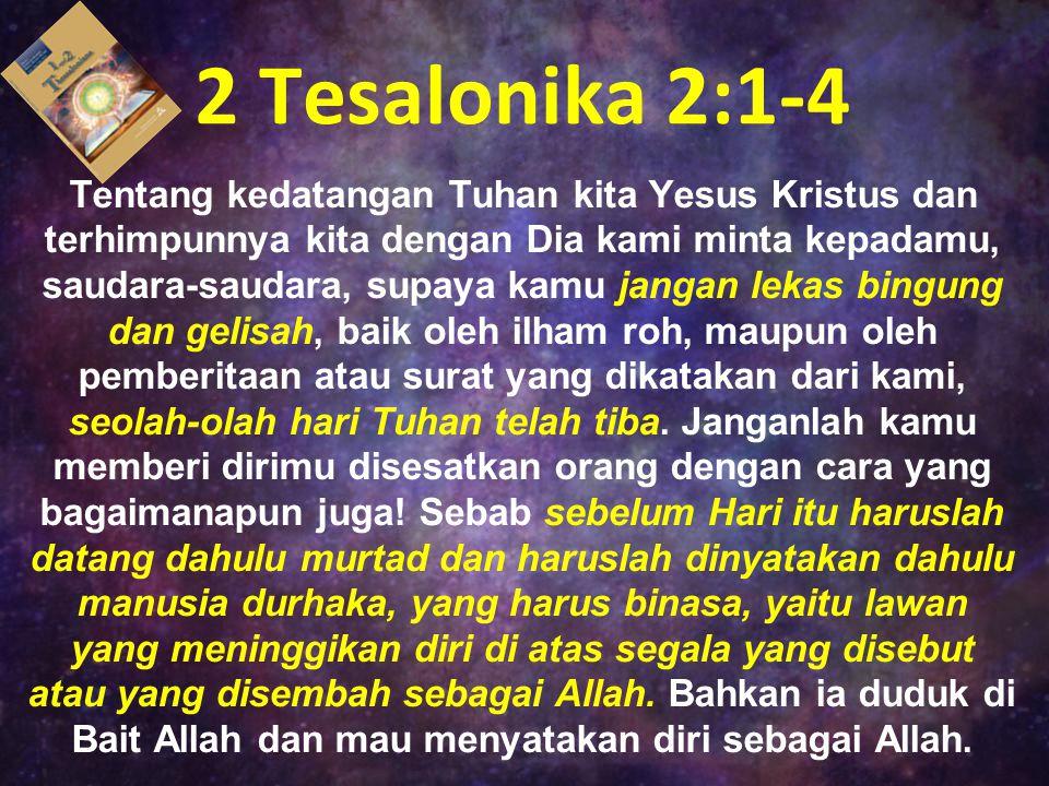 2 Tesalonika 2:1-4