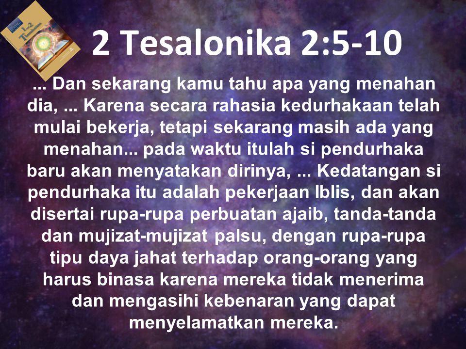 2 Tesalonika 2:5-10