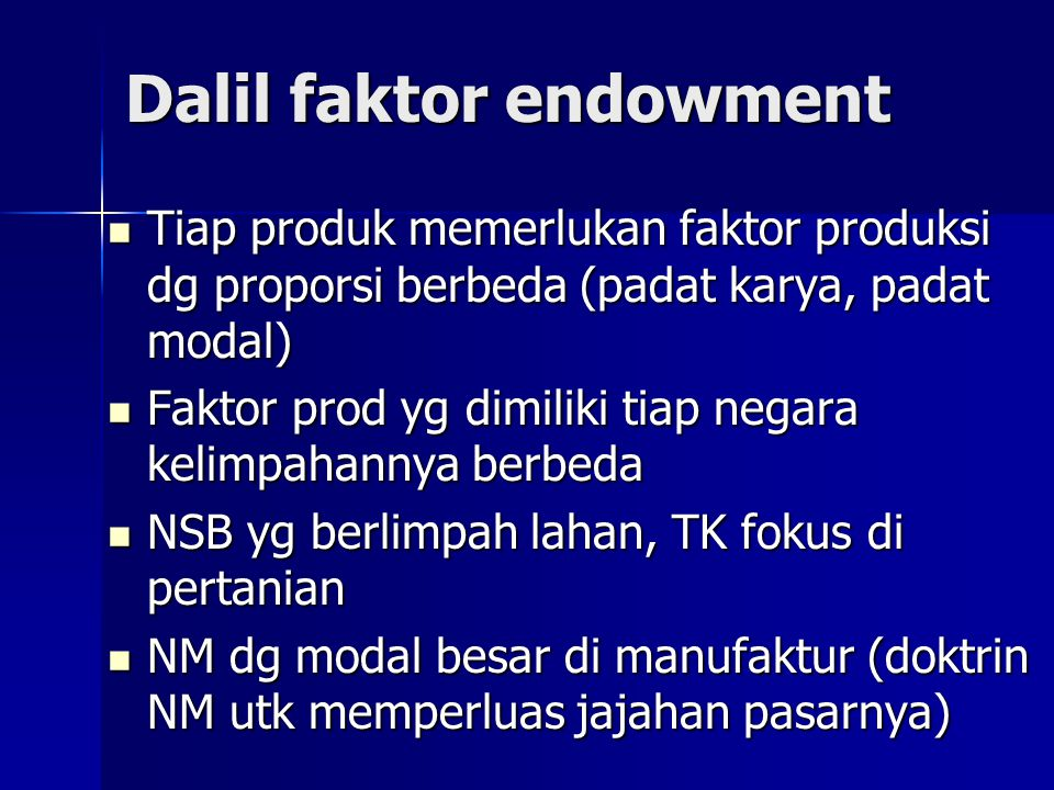 Dalil faktor endowment