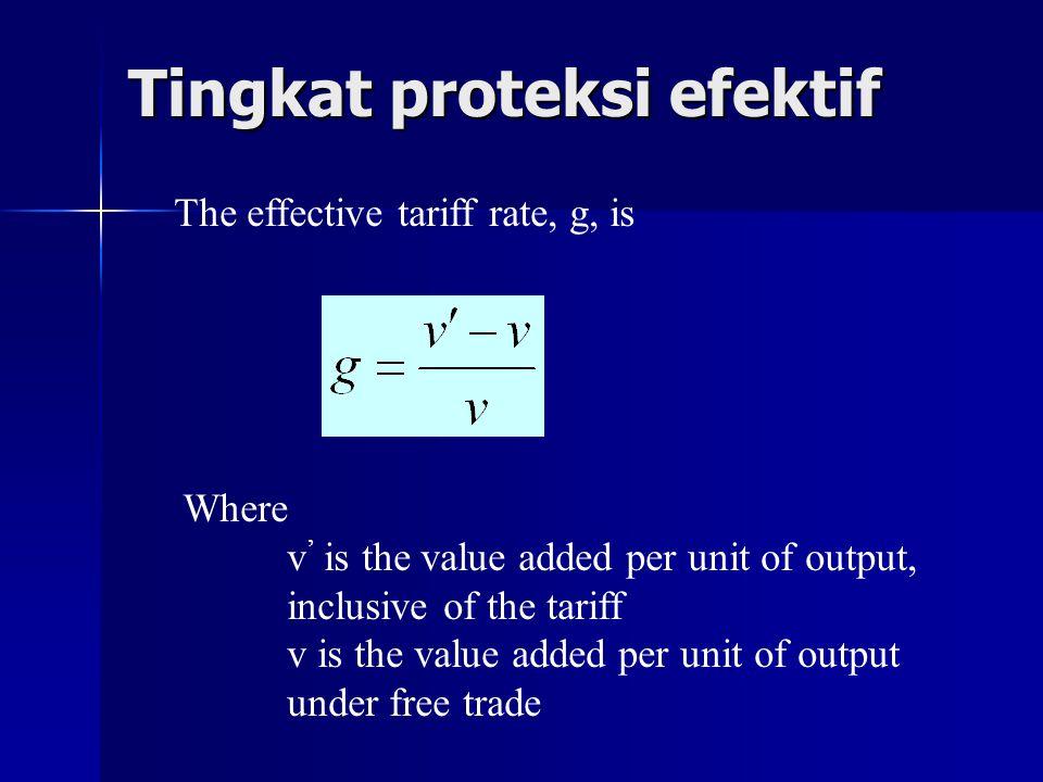Tingkat proteksi efektif