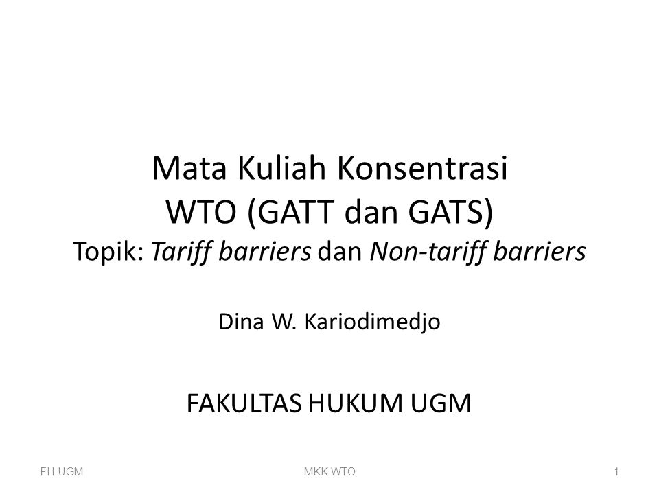 Dina W. Kariodimedjo FAKULTAS HUKUM UGM
