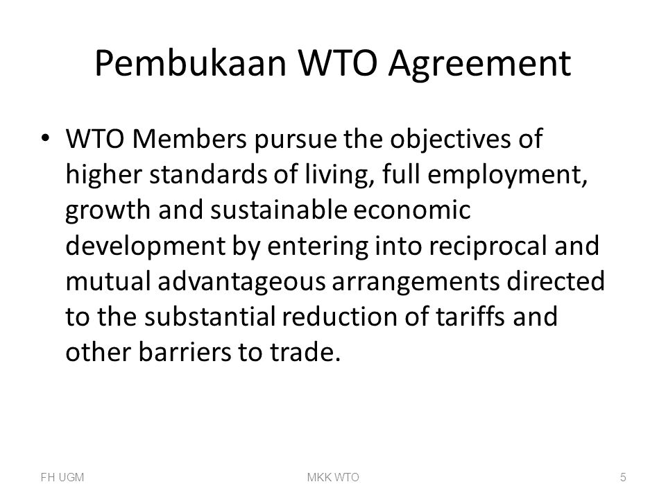 Pembukaan WTO Agreement