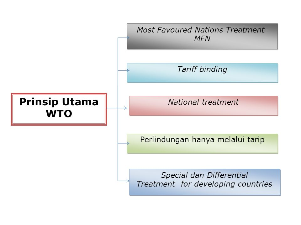 Prinsip Utama WTO Most Favoured Nations Treatment-MFN Tariff binding
