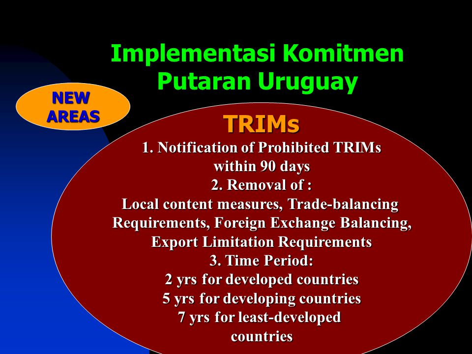 Implementasi Komitmen Putaran Uruguay TRIMs