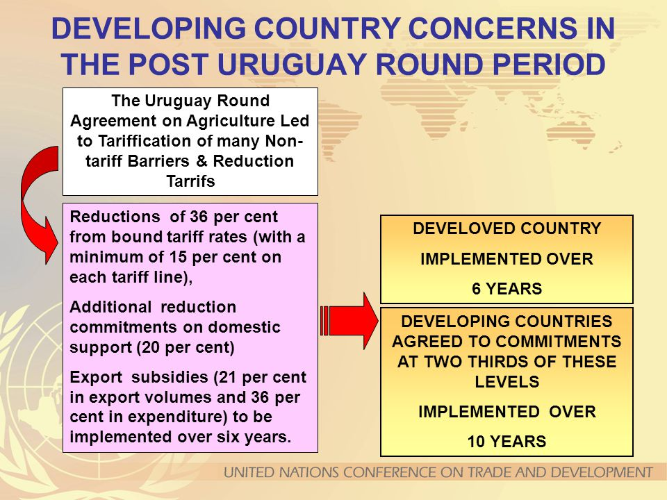 DEVELOPING COUNTRY CONCERNS IN THE POST URUGUAY ROUND PERIOD