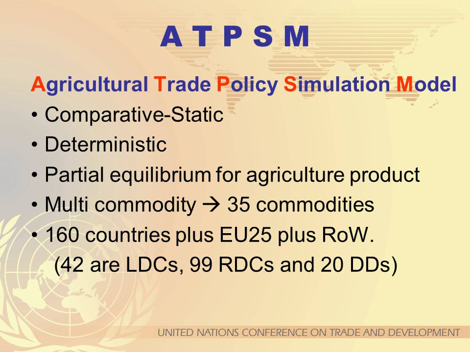 A T P S M Agricultural Trade Policy Simulation Model