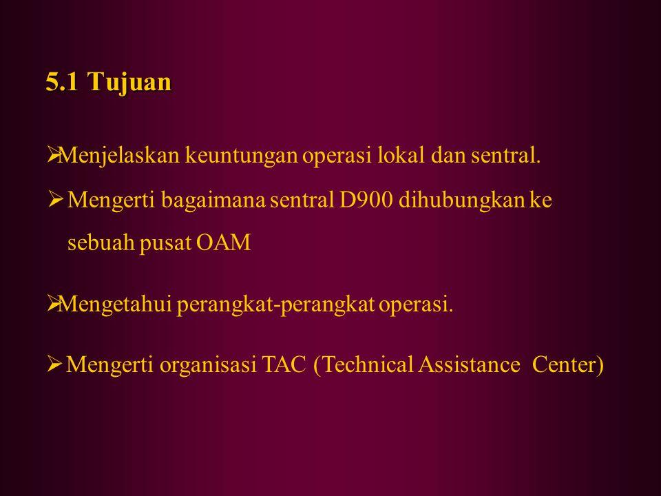 5.1 Tujuan Menjelaskan keuntungan operasi lokal dan sentral.