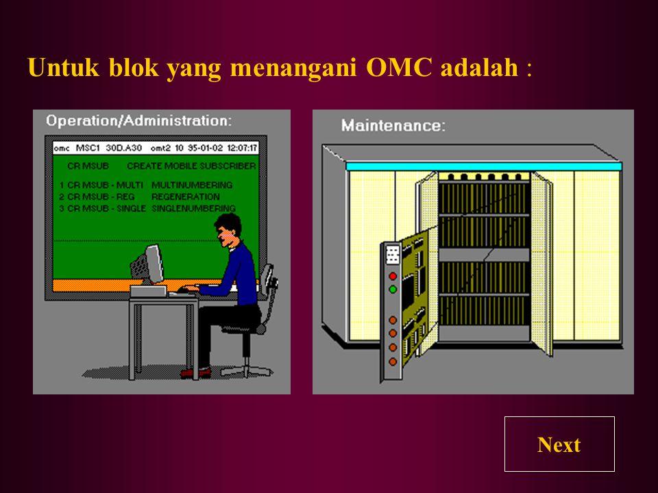 Untuk blok yang menangani OMC adalah :