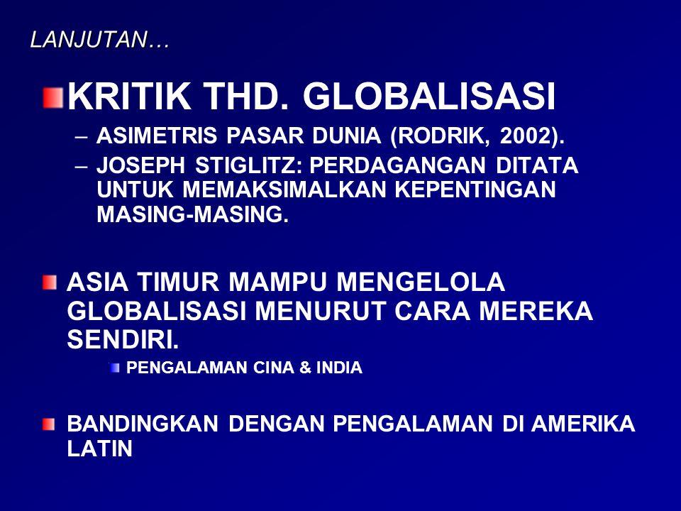 KRITIK THD. GLOBALISASI